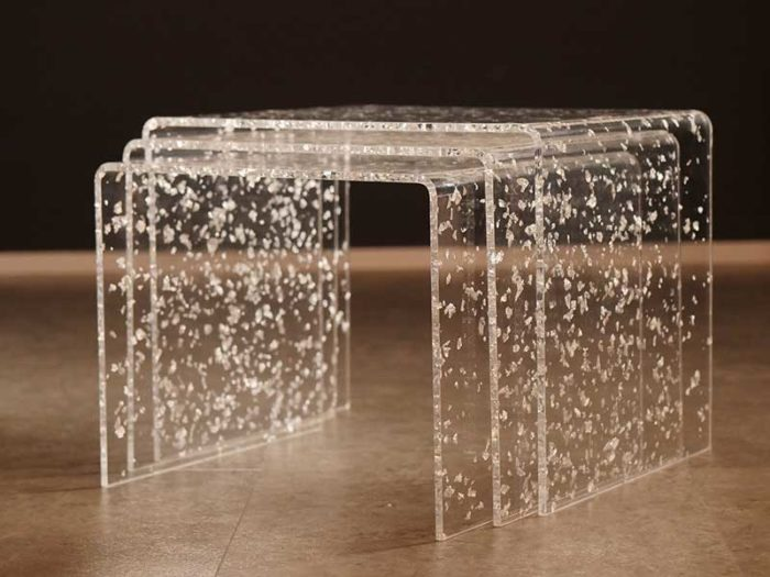 "Acrylglas Beistelltische ""Trio"" aus acrylic couture ""fiocchi"""